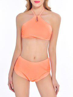 Assortiment De Bikini Rembourré à Taille Haute - Orange Xl