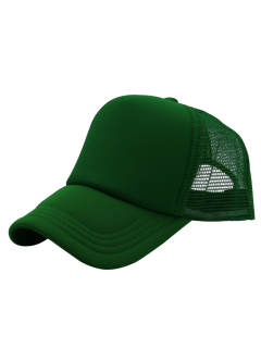 Breathable Mesh Panel Baseball Hat - Grass Green