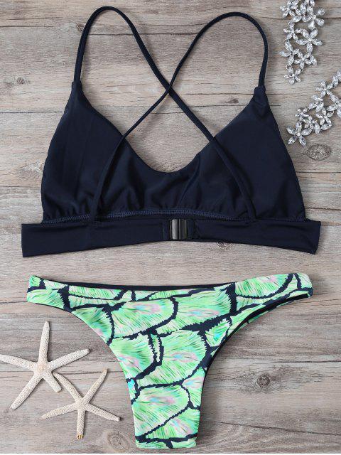 outfit Cami Cross Back Printed Bikini Set - COLORMIX S Mobile