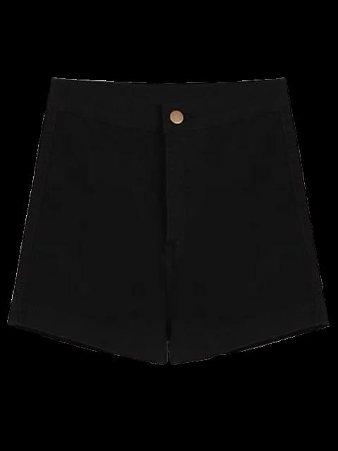 Shorts denim à taille haute - Noir L Mobile