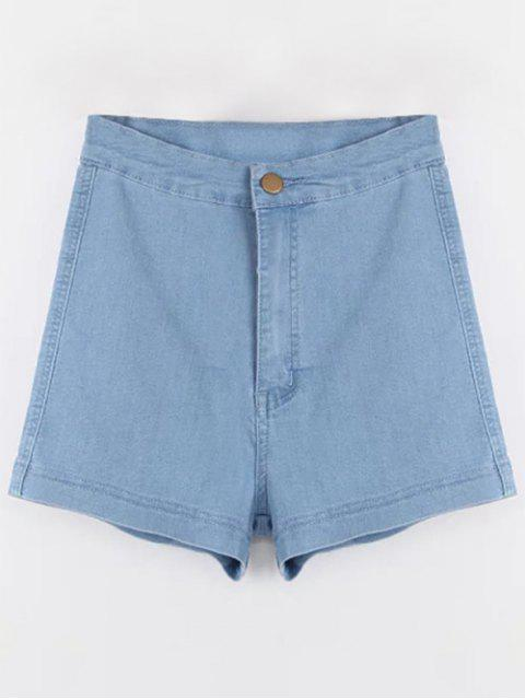 Jeans-Shorts mit hoher Taille - Hellblau S Mobile