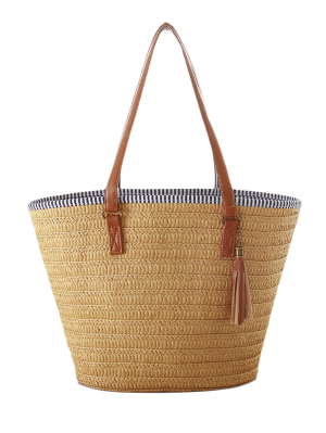 Tassels Weaving Striped Shoulder Bag