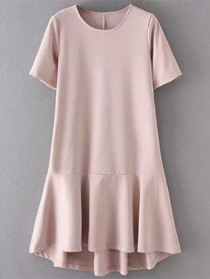 Vestido Con Altas Bajas Faldas Con Volantes - Color De Raíz De Loto   L