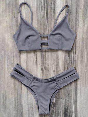 Bandage Bikini Badeanzug