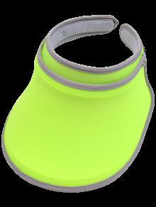 Protección UV Lucky Banda De Sudor Visera - Verde De Neón