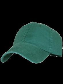 المنحني بريم محظوظ قبعة البيسبول - الأخضر العميق