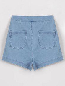 High Waisted Denim Shorts LIGHT BLUE: Shorts M | ZAFUL