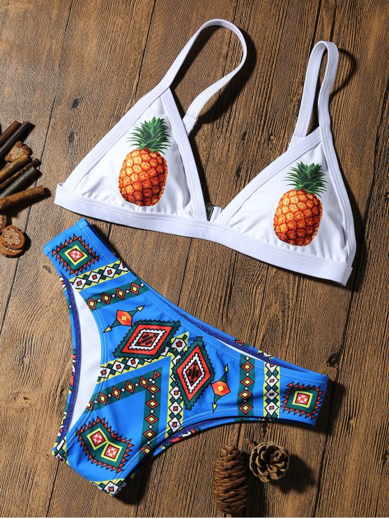 shops Pineapple Padded Cute Bathing Suit - COLORMIX XL