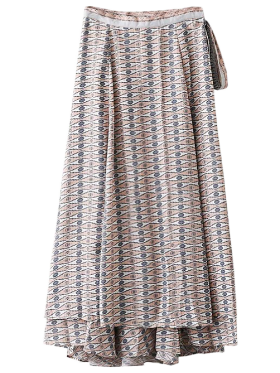 Printed Wrap Maxi Rock - Blau S