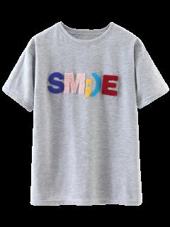 Carta La Camiseta De Algodón - Gris Claro S