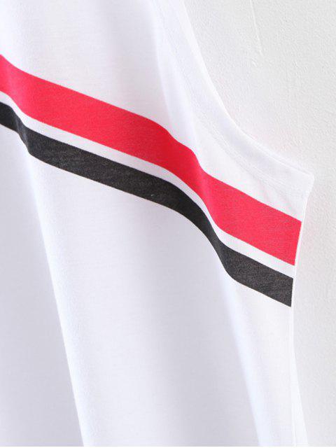 best Diagonal Striped Tank Top - WHITE S Mobile