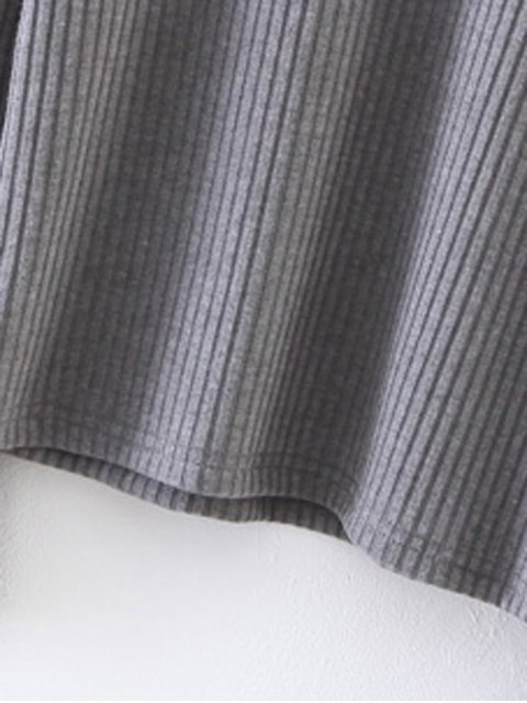 latest Layering Flare Sleeve Top - GRAY M Mobile