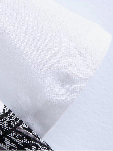 affordable Bra Funny Print T-Shirt - WHITE L Mobile