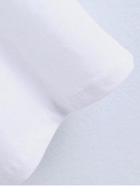 T-shirt imprimé de Foulard - Blanc M Mobile