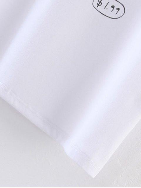 buy Cute Milk Print T-Shirt - WHITE S Mobile