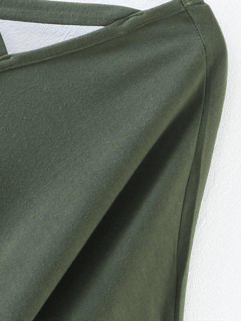 online Oversized Crosscriss Top - ARMY GREEN M Mobile