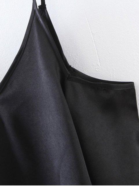 trendy Cami Cold Shoulder Top - BLACK L Mobile