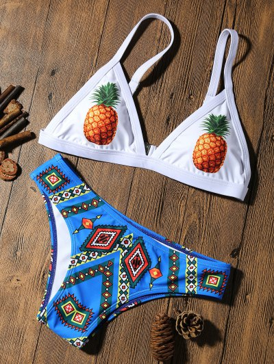 Pineapple Padded Cute Bathing Suit - M