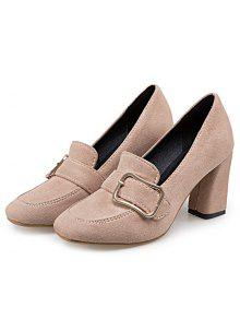 hot sale cheap price Block Heel Square Toe Pumps - Apricot 38 affordable for sale really cheap online marketable cheap price with paypal online OWpbSmpi3