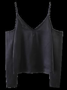 Top Camisole à épaules Dénudées  - Noir S