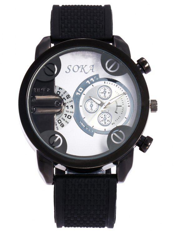 ساعة هلام السيليكا حزام التناظرية المعصم - أبيض