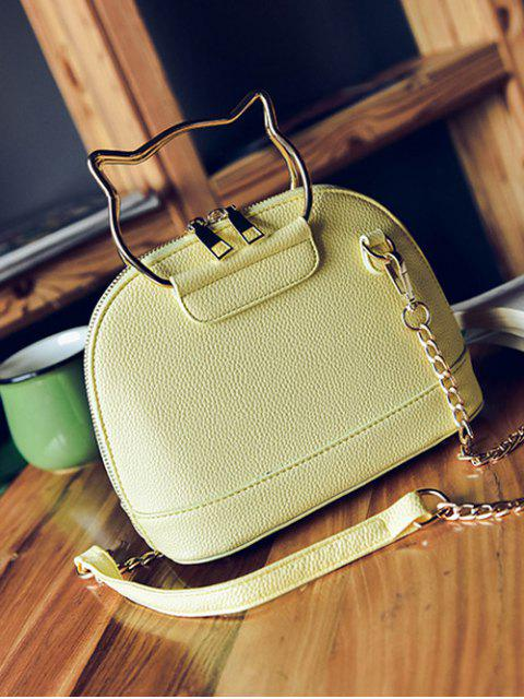 women's Candy Color Crossbody Bag with Chains -   Mobile