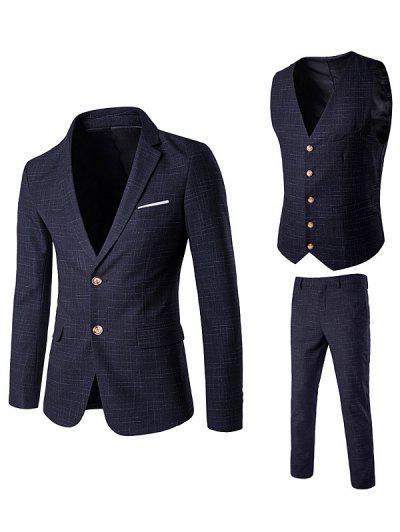 Single Breasted Waistcoat Linellae Three Piece Suit