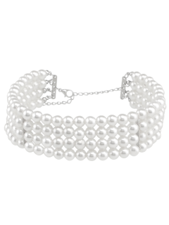 Artificial Pearl Multilayered Necklace - White