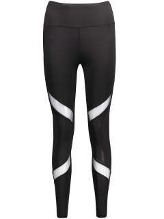 Mesh Panel Skinny Sports Leggings - Black L