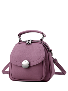 Metal Detail Cross Body Convertible Bag - Purple