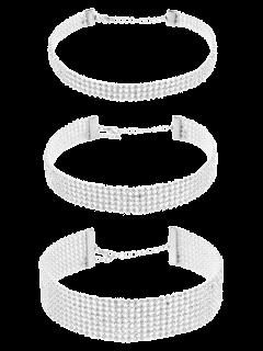 Assortiment De Collier Strass Rétro - Blanc