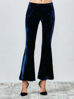 Pantalon En Velours évasé - Bleu Violet S