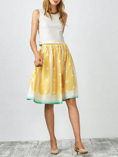 Fruit Pattern Ball Gown Skirt - Yellow S