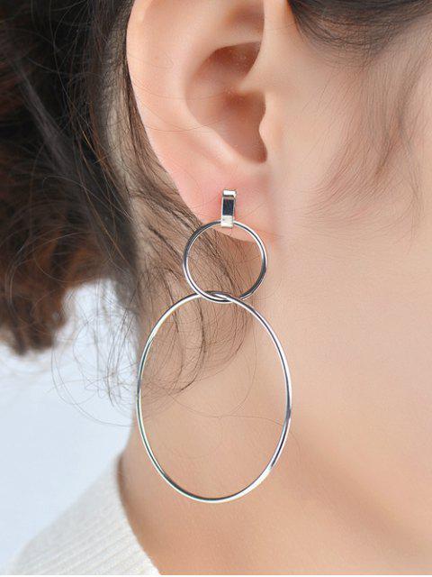 buy Circles Earrings - SILVER  Mobile
