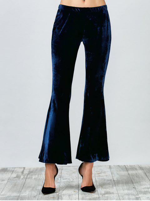 Pantalones acampanados terciopelo - Azul Purpúreo M Mobile