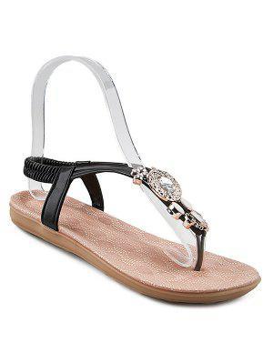 Sandals Elastic Band Strass - Noir 38