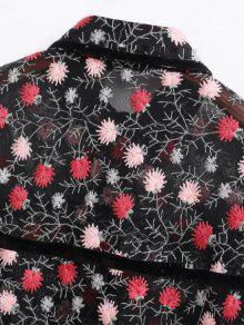 Bordado Floral Negro La Ver M Por Camisa wwqvdp