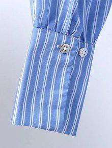 De Aro L Camisa Bordado La Azul Y Volver Del Blanco wfqtExz