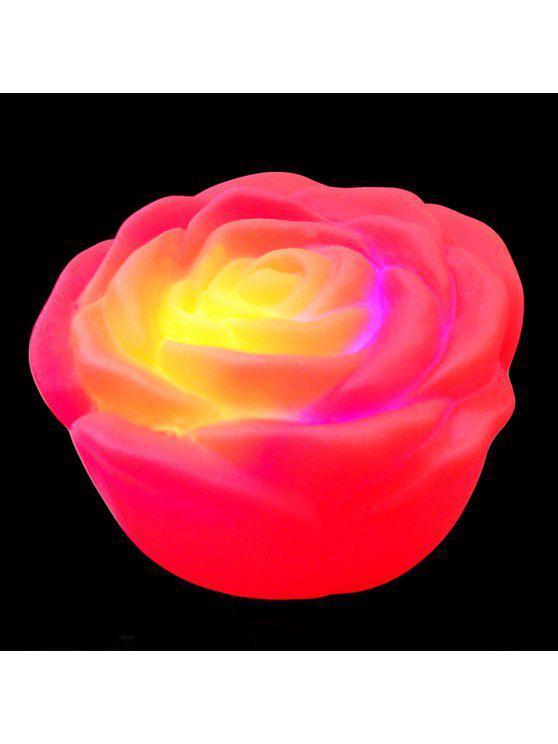 ملون الصمام روز زهرة ضوء الليل - أحمر