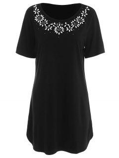 Beaded Plus Size Top - Black 5xl