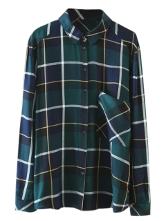 Pocket Checked Shirt - Green S