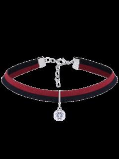 Collar Gargantilla Del Color Del Contraste De La Vendimia Del Rhinestone - Plata