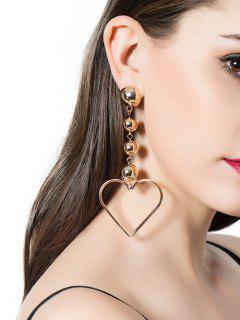 Boucles D'oreilles En Alliage De Perles Et De Coeur - Or