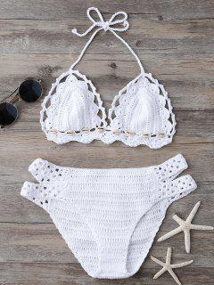 Shell String Crochet Bikini Set - White