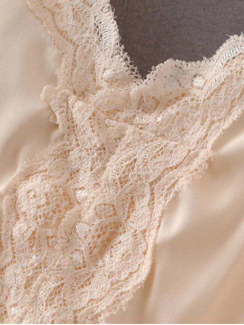outfit Lace Trim Cami Top - BLACK L Mobile