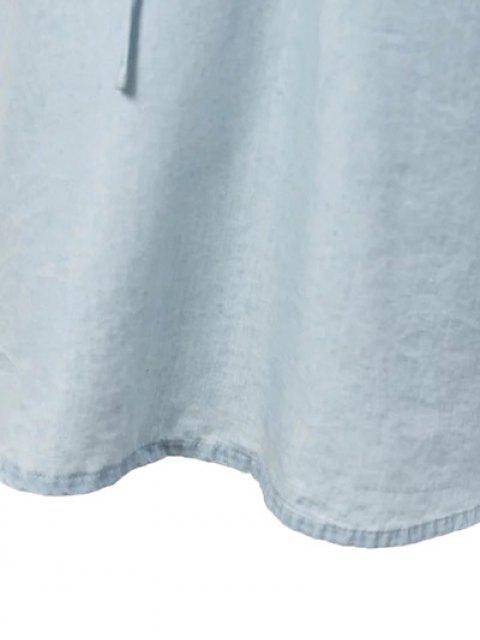 sale Slip Denim Dress - LIGHT BLUE S Mobile