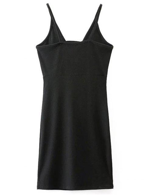 Plongeant cou Robe moulante Mini - Noir S Mobile