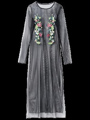 Brodé See Thru Mesh Dress - Noir M
