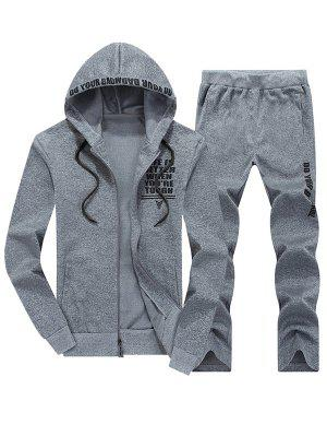 Zip Up Graphic Hoodie Twinset