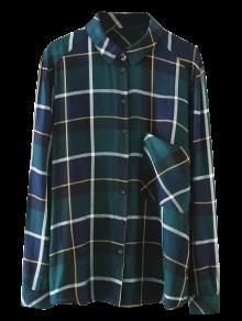 Chemise à Carreaux Avec Poches - Vert S